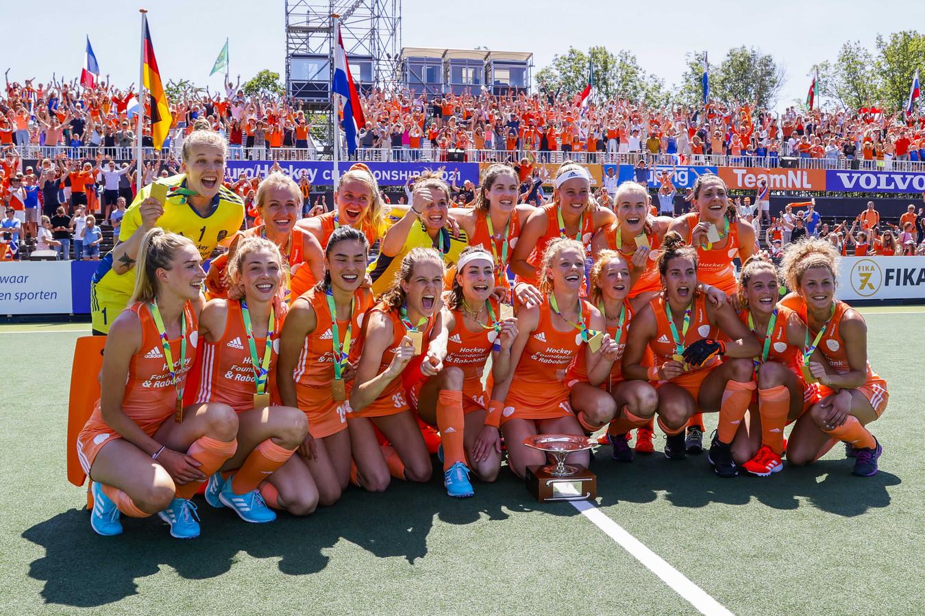 De hockeysters werden onlangs Europees kampioen.