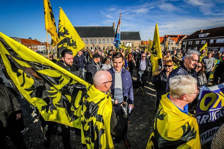 Dries Van Langenhove liep mee in de mars.