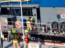 Bemanning bevoorradingsschip weet zelf brand in machinekamer te blussen