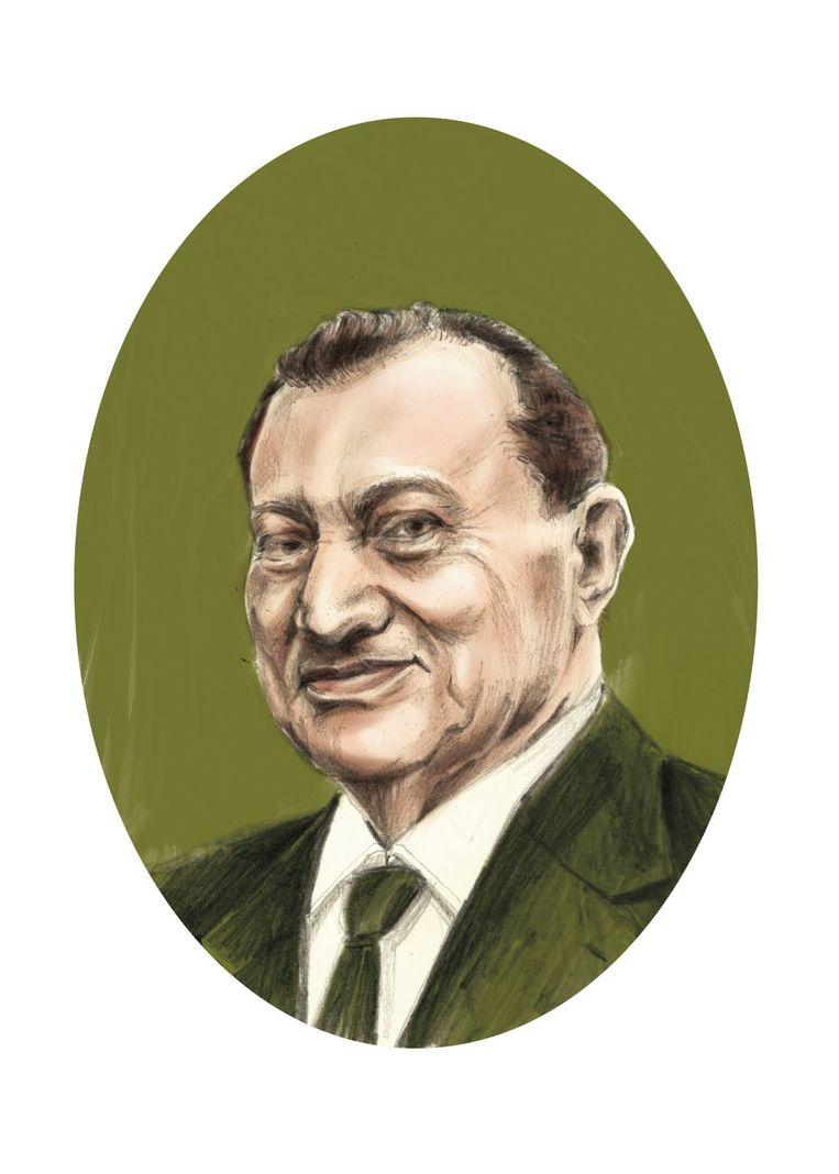 Waarschijnlijk zag u, Hosni Moebarak, die dertig jaar dictator was, de revolutionairen op de pleinen in Caïro vooral als  ondankbaren.  Beeld Penelope Deltour