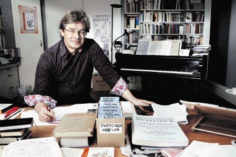 Harry van der Kamp: 'Sweelincks ideeënrijkdom is enorm, hij weet overal raad mee.' (FOTO JÿRGEN CARIS) Beeld