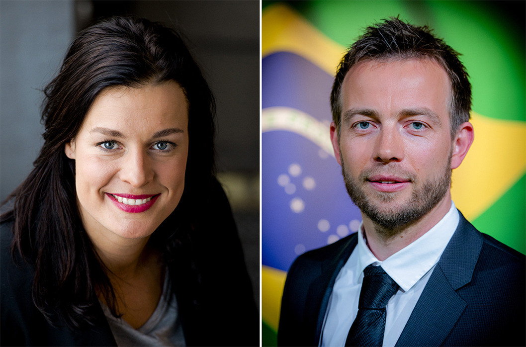Edith Bosch (links) en Henry Schut.