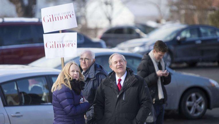 Een campagnebijeenkomst van Gilmore Beeld afp