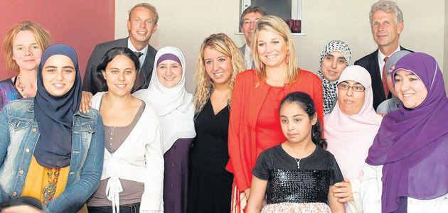 Máxima bracht gisteren een bezoek aan het project Al Amal. © FOTO AD