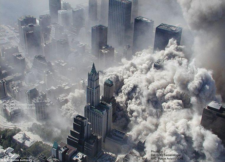 9/11 was volgens Taleb een echte 'zwarte zwaan': een onvoorspelbare, zeldzame gebeurtenis met extreme gevolgen. Beeld AFP