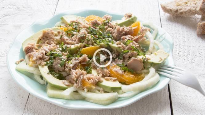 Carpaccio van venkel met tonijn: fris en chic