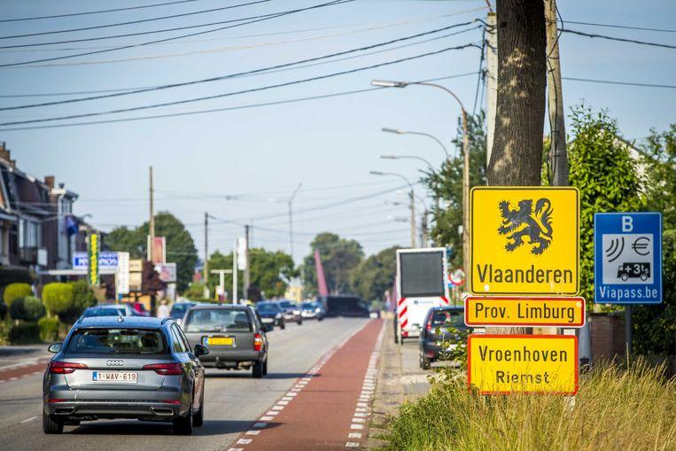 De grens tussen België en Nederland. Beeld ANP