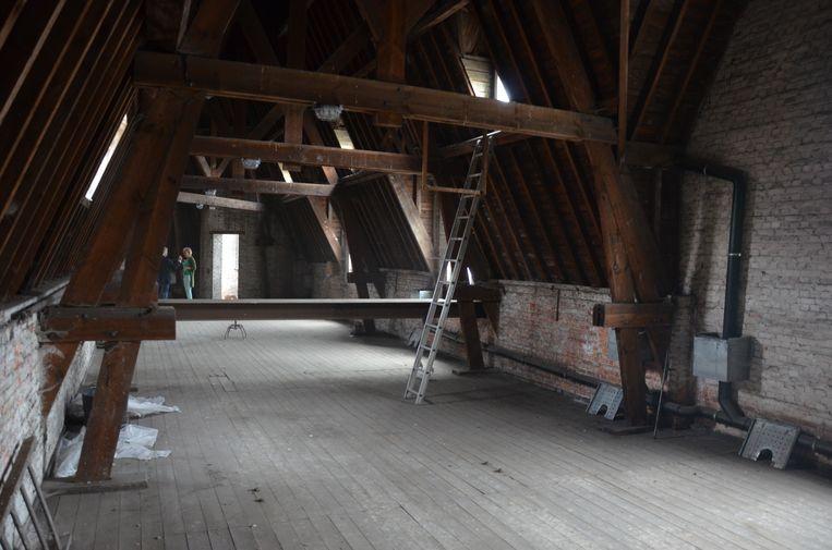 Ook de zolderverdieping kan je ontdekken tijdens een rondleiding op Open Monumentendag.