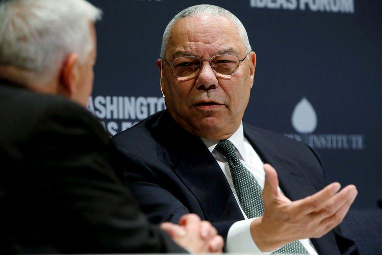 Colin Powell vindt de Amerikaanse president Donald Trump 'nutteloos'.  Beeld Reuters