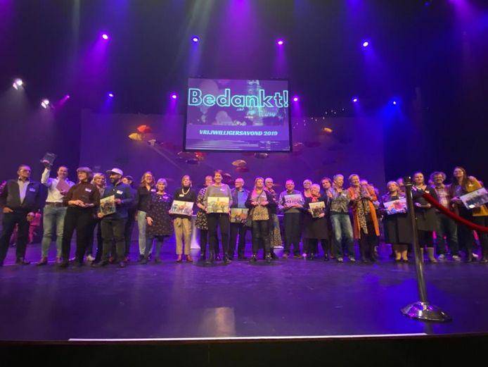 De vrijwilligersavond in de Deventer Schouwburg.