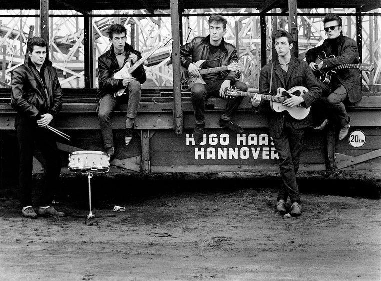 The Beatles in Hamburg. Beeld Astrid Kirchherr