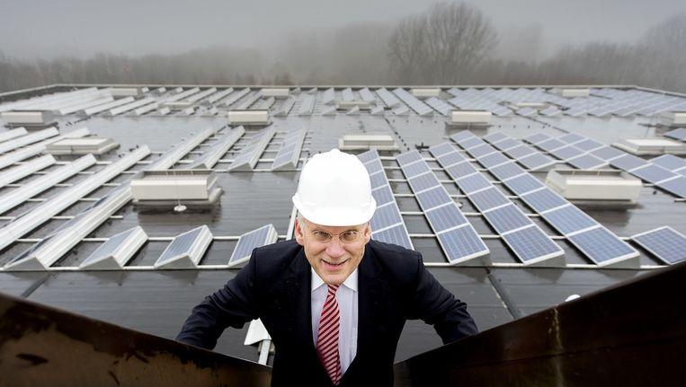 Het RAI-zonnedak telt 1.632 panelen - het grootste van Amsterdam. Beeld anp