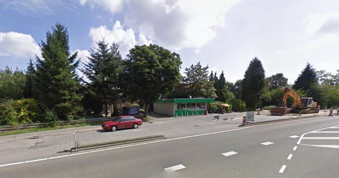 Het voormalig tankstation aan de Cuneraweg op de grens van Veenendaal en Rhenen.