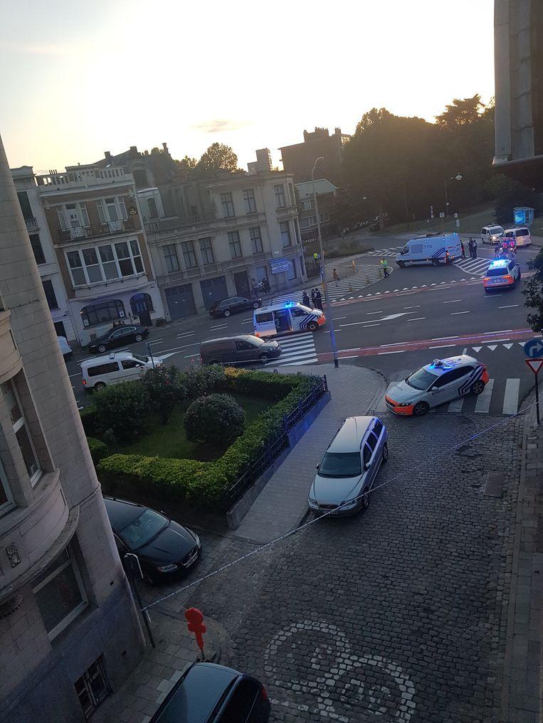 De politie snelde ter plaatse en stelde een perimeter in.