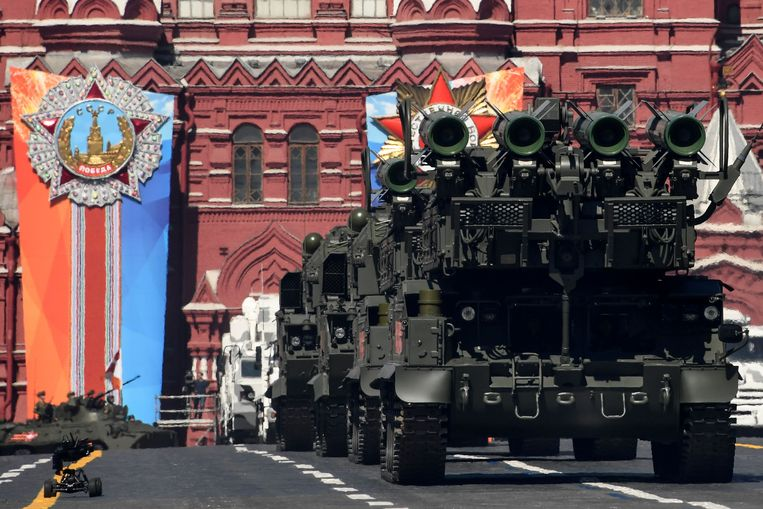 Buk-M2 luchtverdedigingsraketsystemen.