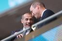 UEFA-voorzitter Aleksander Ceferin met prins William