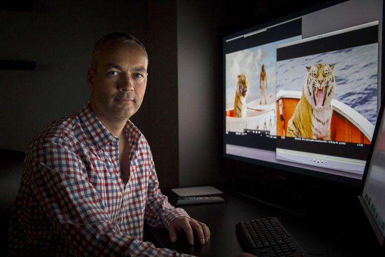 2013-01-15 LOS ANGELES - Portret van animation director Erik-Jan de Boer in de Rhythm and Hues Studios in El Segundo. De Nederlander heeft een Oscar-nominatie te pakken voor de special effects van de film Life of Pi. ANP BRET HARTMAN Beeld ANP