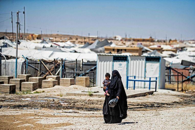 Het al-Hol kamp in Syrië. Beeld AFP