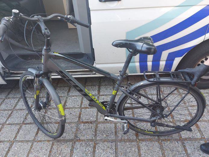 Een van de gevonden fietsen in Essen