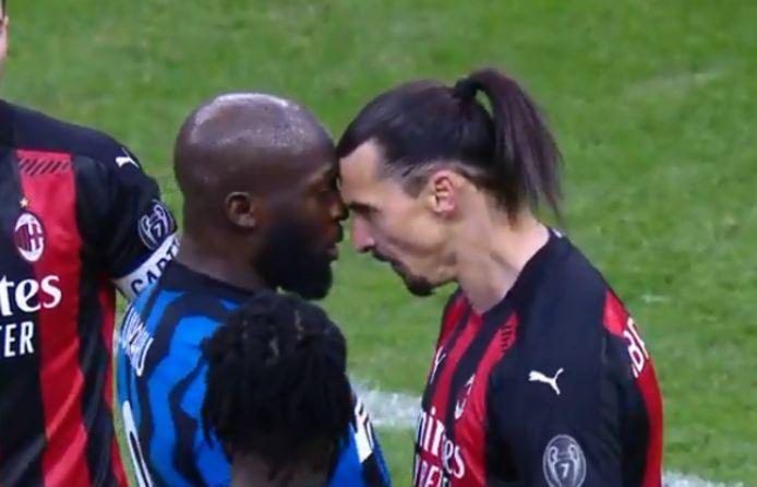 Lukaku en Ibrahimovic neus aan neus