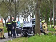 Bestuurder door brandweer uit wrak bevrijd na klap tegen boom in Steenderen