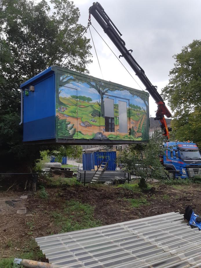 De tuinkeet van de buurttuin in het Bergkwartier krijgt een nieuwe bestemming..