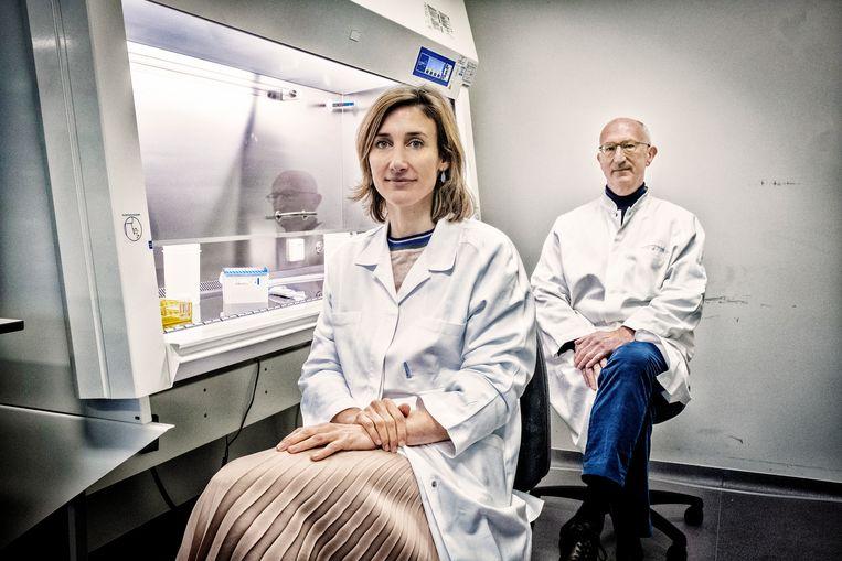 Isabel Leroux-Roels (links). Beeld Tim Dirven