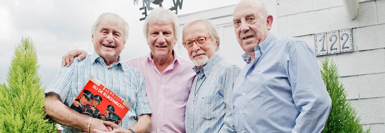 Van links naar rechts: John De Wilde, Nest Adriaensen, Alex Boeye en Bob Van Staeyen.  Beeld