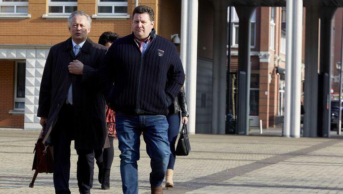 Vleeshandelaar Willy Selten arriveert in maart vorig jaar bij de rechtbank in Den Bosch.