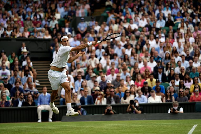 Roger Federer morste een set tegen de Brit Cameron Norrie. Beeld AP