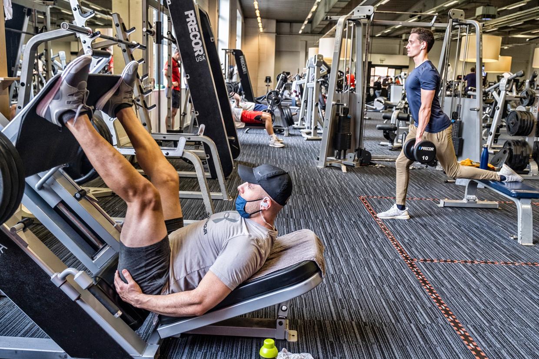 Jims-fitness in Leuven. Beeld Tim Dirven