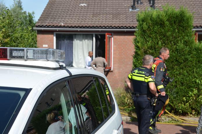 Het woonhuis aan de Babsloot in Boskoop, waar een keukenbrand heeft gewoed.