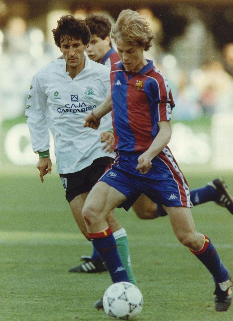 Jordi Cruijff in 1993 in het shirt van de Catalanen Beeld anp