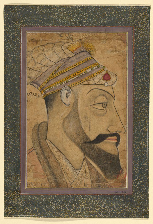 De verpersoonlijking van het  kwaad: de islamitische keizer (Mogol ) Aurangzeb, die heerste van 1658 tot 1707.   Beeld