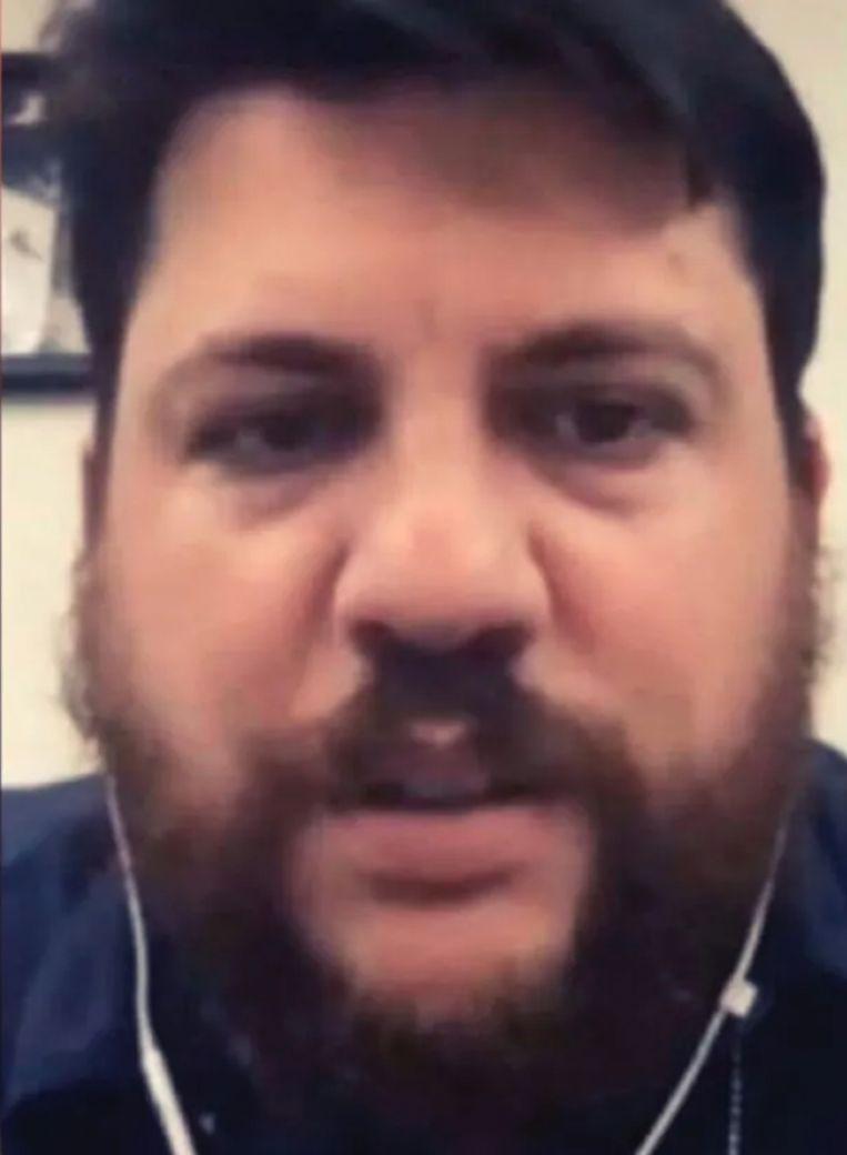 De deepfake of nep Leonid Volkov waarmee Nederlandse politici een videocall hadden. Beeld Facebook