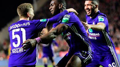 VIDEO. Anderlecht kan toch nog winnen op verplaatsing: Bolasie kopt paars-wit voorbij Antwerp na erg matige wedstrijd