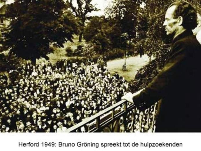 Bruno Gröning spreekt tot hulpzoekenden