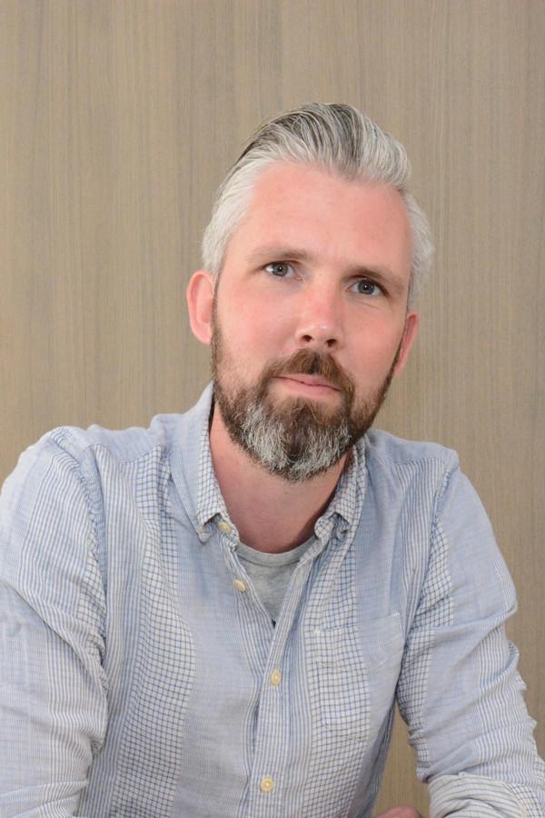 Archeoloog Jeroen Van Vaerenbergh.