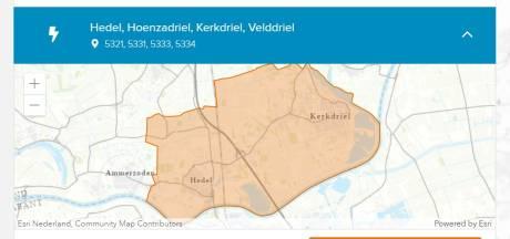 41 straten in Kerkdriel en omgeving zonder stroom, nu ook problemen bij Zaltbommel