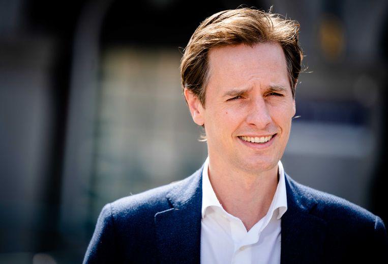Laurens Dassen, fractievoorzitter van Volt in de Tweede Kamer. Beeld ANP