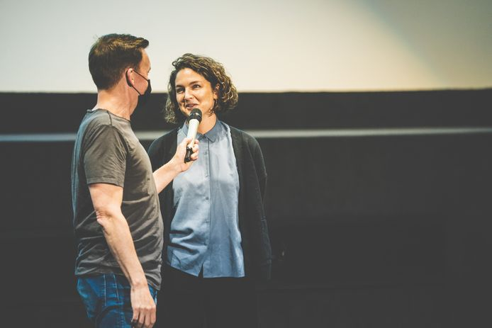Gesprek met regisseur Anouk Fortunier net voor de film.