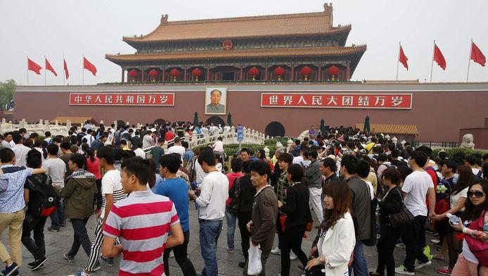Place Tiananmen le 1er mai