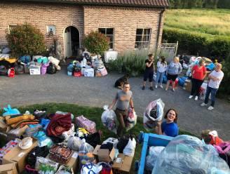 Niet één maar drie volle bestelwagens en extra vrachtwagen vol hulpgoederen richting Ardennen
