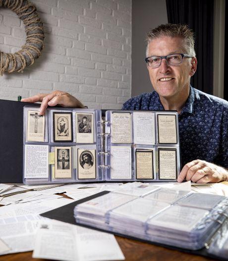 Tonnie Homan verzamelt bidprentjes: 'Zo leg ik de historie van Hertme vast'