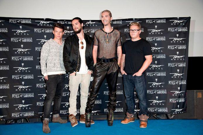 Tom Kaulitz, Bill Kaulitz, Georg Listing et Gustav Schäfer en 2014.