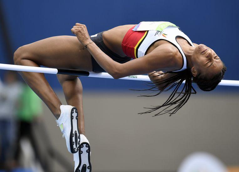 Nafi Thiam springt naar Olympisch goud in 2016. Beeld BELGA