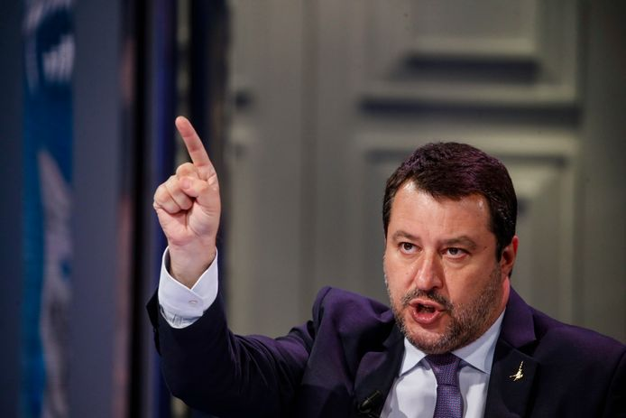 Matteo Salvini, de Italiaanse oud-minister van Binnenlandse Zaken.