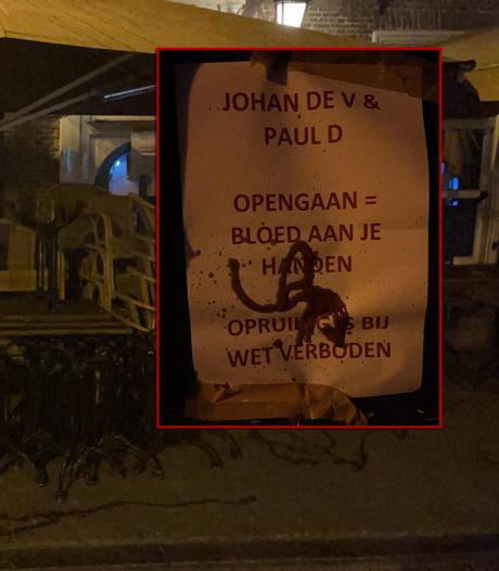 Terras Boerke Verschuren in Breda besmeurd met ketchup: 'Opengaan = bloed aan je handen'