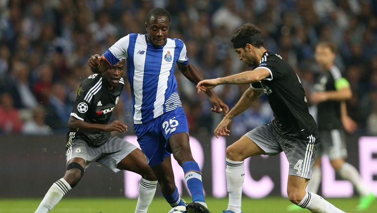 Gianelli Imbula in actie met FC Porto tijdens het CL-duel tegen Chelsea.