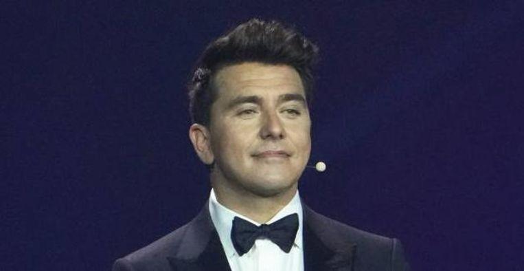 Kijkers Eurovisie Songfestival liggen in een deuk om duckface van Jan Smit Beeld BrunoPress